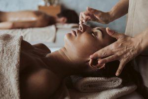 couple enjoying relaxing massages