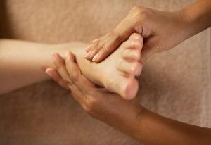 foot massage after foot soak